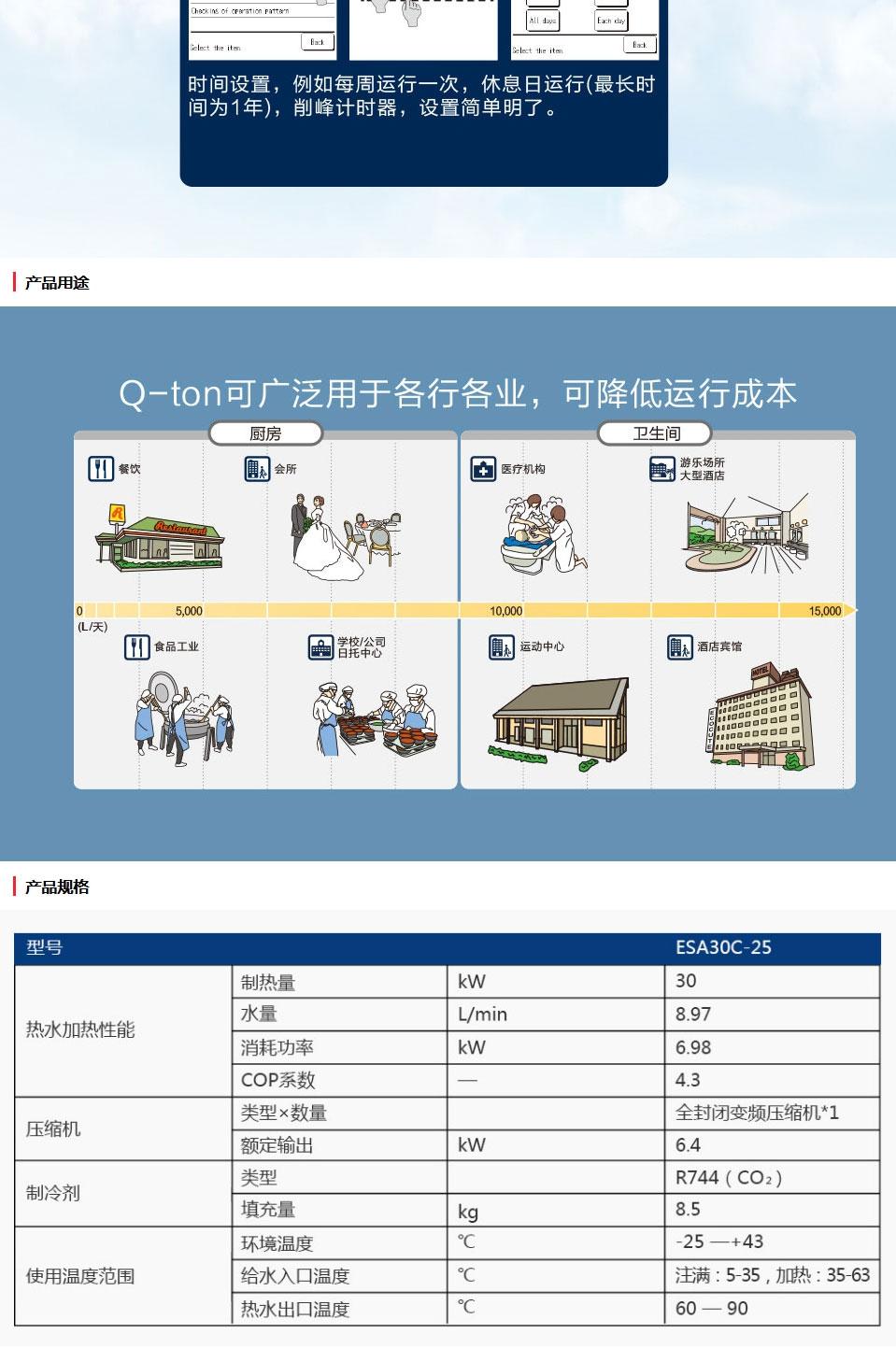 三菱重工冷媒空气源热泵热水机Q-ton_03