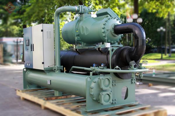 无锡厂房中央空调工业专用螺杆式水冷工业机组3