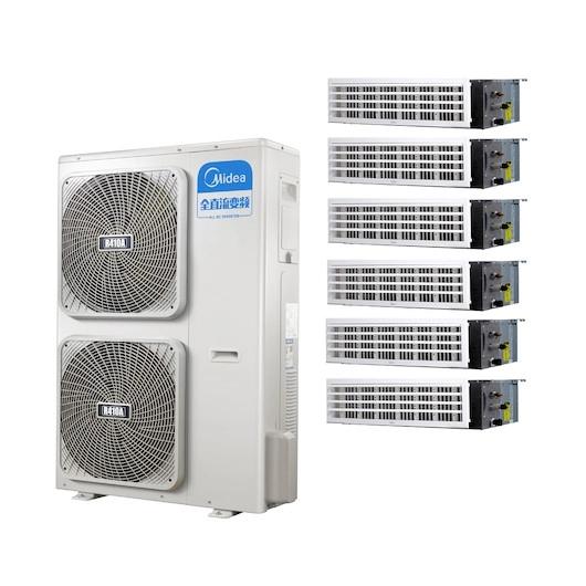 美的中央空调 全直流变频一级能效一拖N多联风管机 7匹别墅办公室