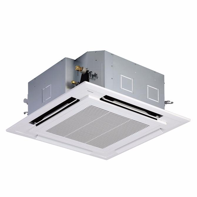美的商用冷暖中央空调吸顶式嵌入式空调天井机天花机四面出风5匹定频